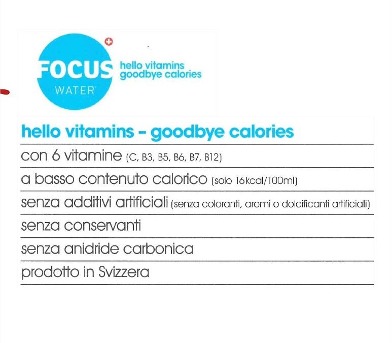 Nuove arrivate: Vitamine Focus Water!!